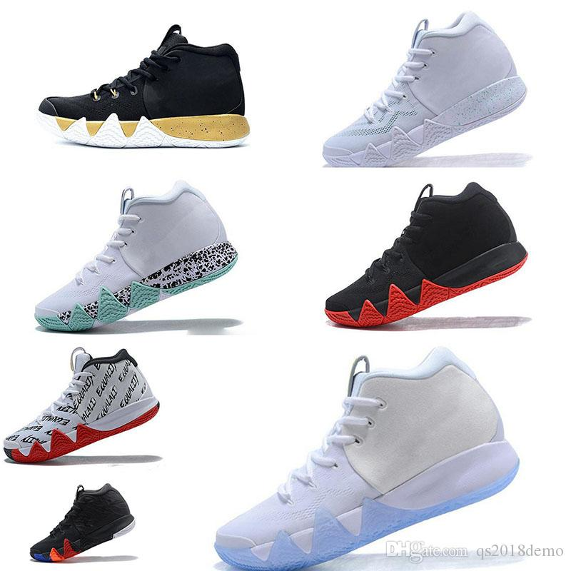 89787cf6d54 men Basketball Shoes for Cheap Sale Sneakers Sports Irving 4 mens Shoe Wolf  Grey Team Red Outdoor Trainers BasketBall shoes Size 40-46