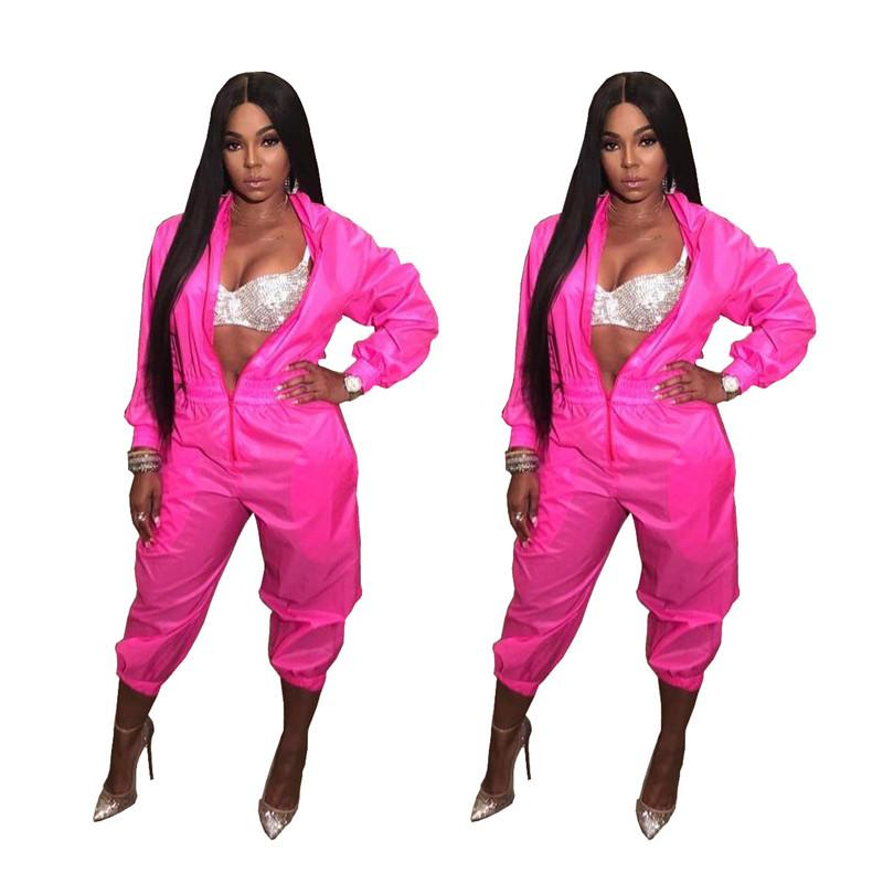 2cd4a351c38 2019 Women Spring Fashion Long Sleeve Jumpsuits Bodysuits Zip Up Sexy  Nightclub Wear Rompers Deep V Neck Slim Ladies Sexy Clothing From  Cutelove66