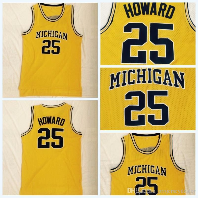 2019 Mens  25 Juwan Howard Michigan Wolverines U Of M Fab Five Vintage  Basketball Jersey Double Stitched Name   Number   Logo Fast Shipping From  ... a3695a46827
