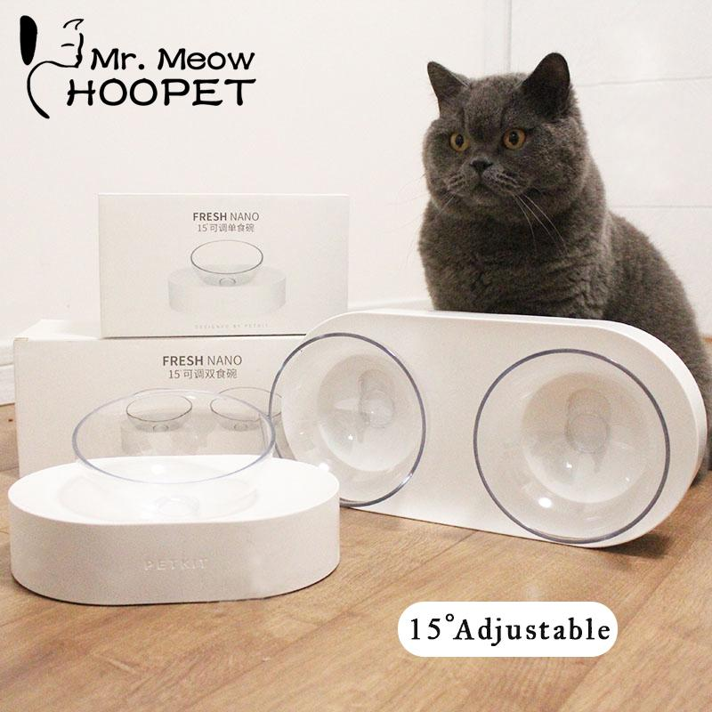 Hoopet Cat Bowl One Dog Dual Port Dispenser Dispenser Utensílios de Água Tigela Gato Gatinho Bebedouro Food Dish Pet Bens Bens Y19070303
