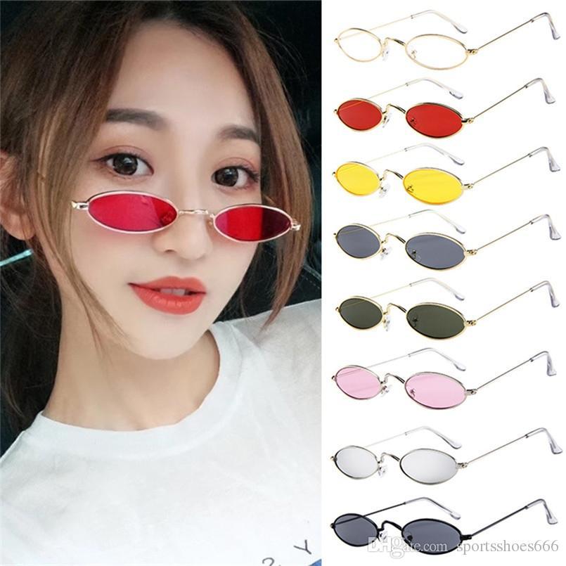 94ad9638c9 Para Mujer Retro Gafas De Sol Ovaladas Pequeñas Gafas De Sol Polarizadas  Hombres Marco De Metal Tonos Gafas Ciclismo Gafas Ciclismo 30ST03 # 212293  Por ...
