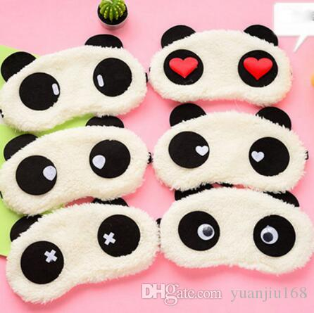 Cute Panda Face Eye Travel Sleeping Mask Soft Padded Sleep Travel Shade Cover Rest Relax Sleeping Blindfold GB1229