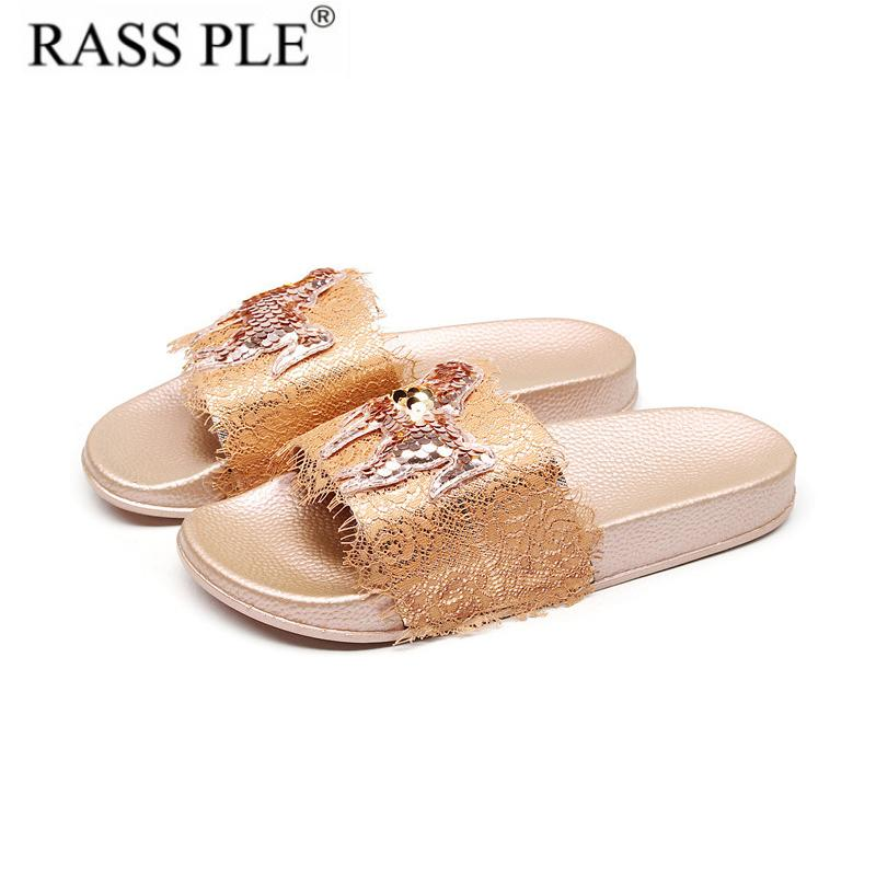 1c2d77e4ce4c0 RASS PLE New Fashion 2019 Women Summer Flip Flop Shoes Sliders Horse Sandals  Ladies Slip On Slippers Mules Comfy Beach Shoes Fur Boots Glass Slipper  From ...