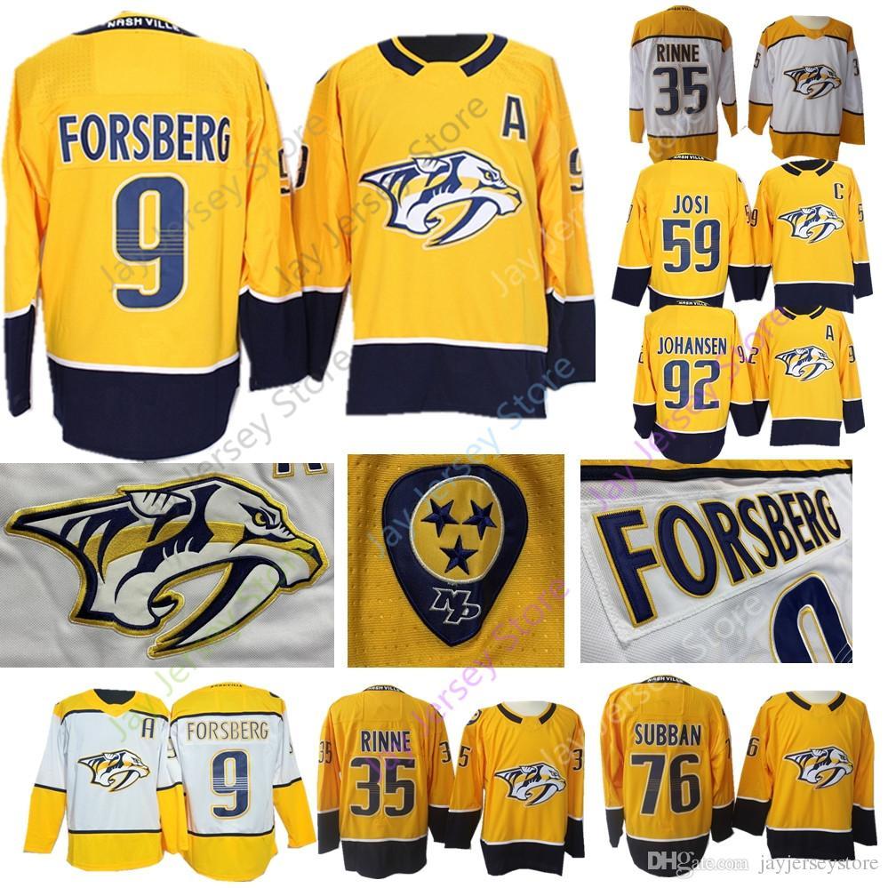 74629518e4c 2019 Nashville Predators Jersey Ice Hockey Filip Forsberg Pekka Rinne Roman  Josi P. K. Subban Ryan Johansen Men Women Youth Kid From Jayjerseystore, ...