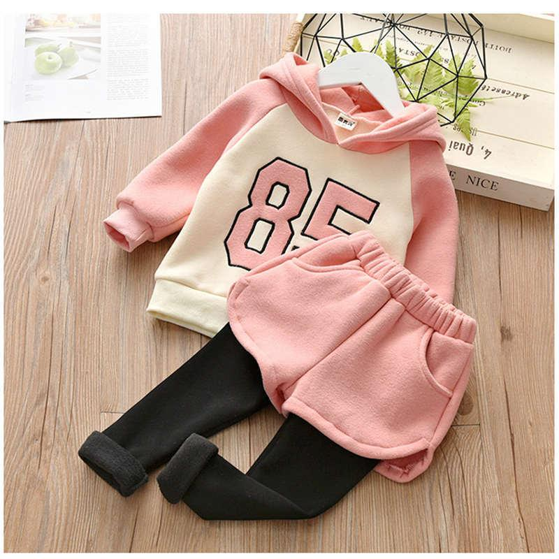 de280615aa15 2019 Good Quality 2019 New Arrival Baby Winter Clothes Sets Cotton Top  Jacket+Pant Number Sports Hooded Plus Velvet Toddler Clothes From  Usefully17, ...