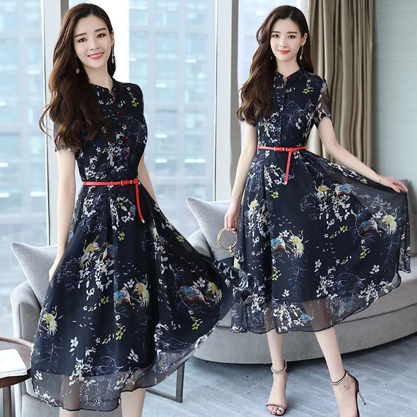 d657540de2a 2019 Summer Vintage Chiffon Floral Dress Plus Size Maxi Sundress Boho 2018  Elegant Women Club Midi Dresses Party Long Dress Vestidos Y19012201 From  Jinmei01 ...