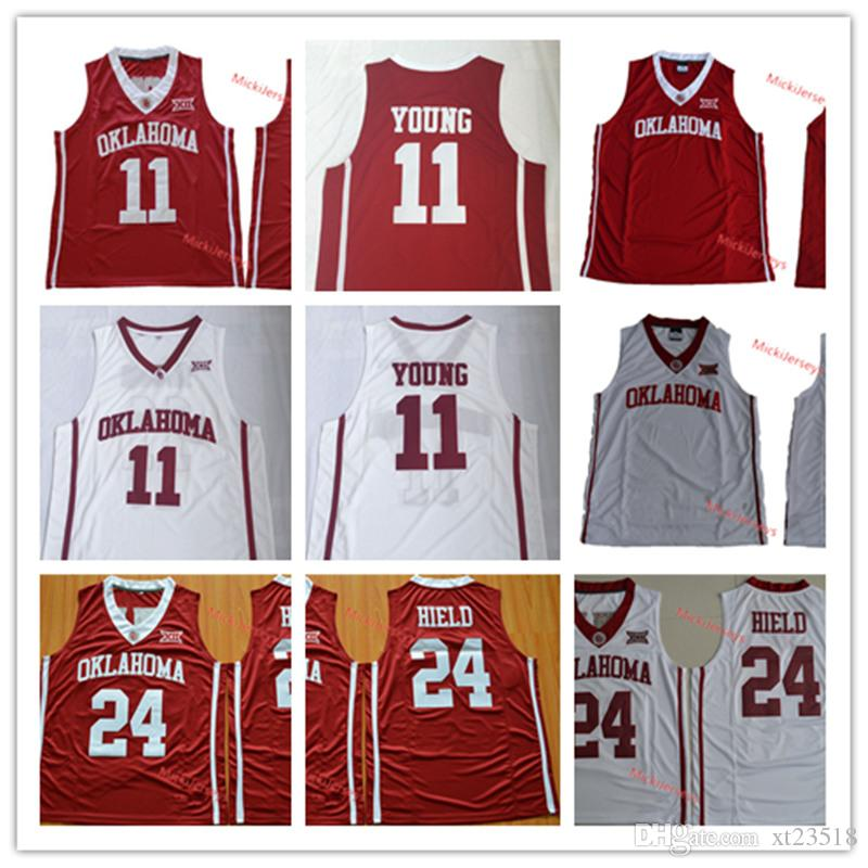 164aad92cd5 2019 Mens NCAA Oklahoma Sooners Trae Young Basketball Jerseys Stitched Red  White Blank  24 Buddy Hield Oklahoma Sooners Jerseys S 3XL From Xt23518