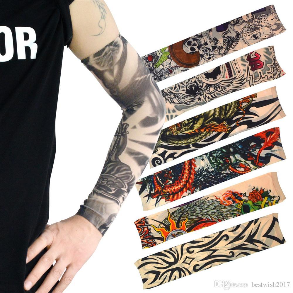 82e25c6e5 Arm Fake Tattoo Sleeves Cool Body Arts Fake Temporary Tattoo 18.5