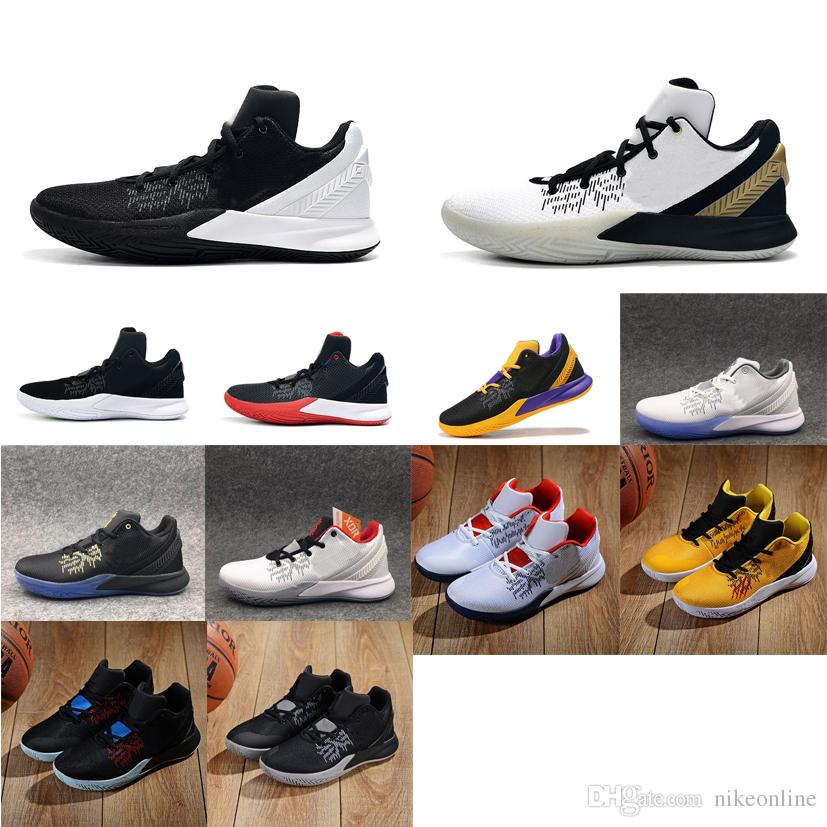 save off e6fba 31a73 Men kyrie flytrap 2 basketball shoes low 5s Black white Gold Team Red  Yellow youth kids kyries irving ii sneakers tennis with box size 7 12
