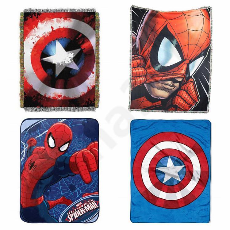 buy online 2299a 30fe1 New Rollable The Avenagers Peluche Fannel Coperta Iron Man Spiderman  Coperta domestica Peluche da viaggio Coperta 20pcs T1I1560