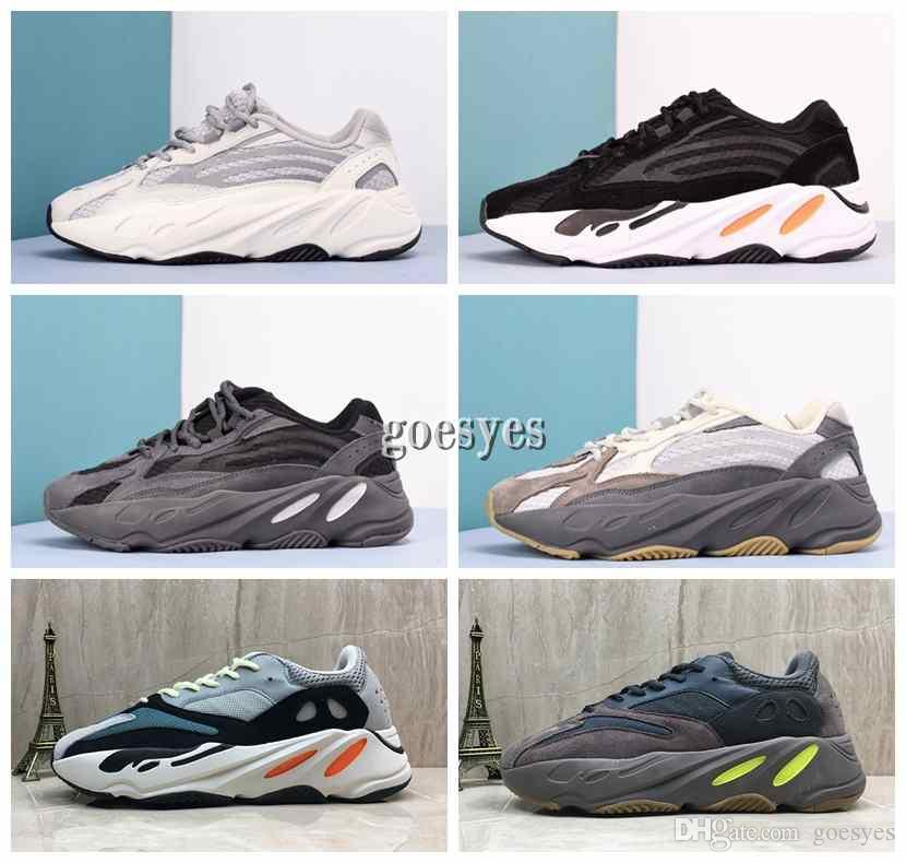 pretty nice 51a26 fdebf Acheter 2019 New Adidas Yeezy 700 Yeezys Kanye West 700 Wave Runner  Chaussures De Course Pour Hommes Femmes 700s V2 Static Baskets De Sport  Mauve Solide ...