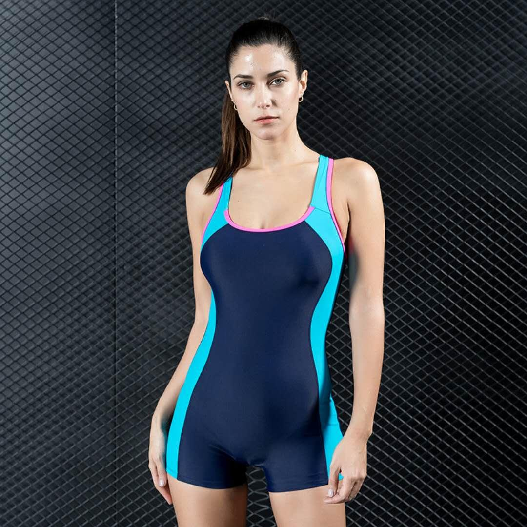 Plus Size Padded 2019 HOT Sexy Back High Waist Motion Swimsuit One Piece Tight Conservative Swimwear Women Surfing Suit Bikini Bathing