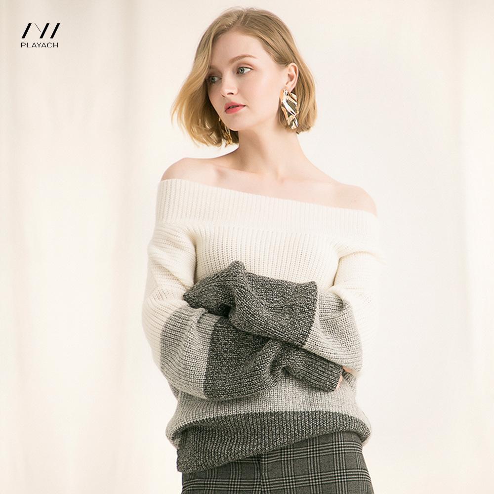 Laine Vêtements De Pour Couleur D'hiver Femmes 2018 D'automne Et En Manteau Couture Pull iukZOXP