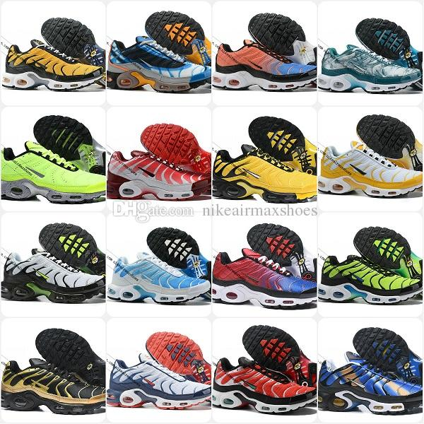 Wholesale 2019 TN SHOES New Designs Top Quality AIR TN Mens Breathable Mesh Chaussures Homme TN Requin Luxury jogging Casual Sneakers