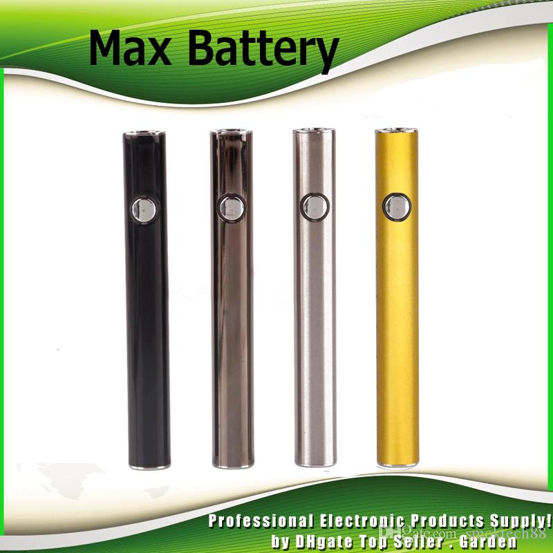 Original Amigo Max Preheat Battery 380mAh Variable Voltage Vape Mod For 510 Thick Oil Liberty V5 V9 Vaporizer Cartridges Tank 100% Authentic