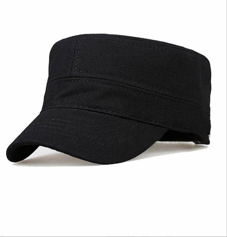 9414ee438 Hat Men's Flat Top Hat Simple Monochrome Army Wholesale Classic ...