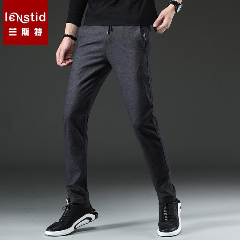408907778b790 Acheter LENSTID Marque Printemps Nouvelle Mode 2019 Hommes Cordon  Décontracté Pantalon Slim Fit Droite Homme Haute Qualité Pantalon Plus La  Taille K822 # De ...