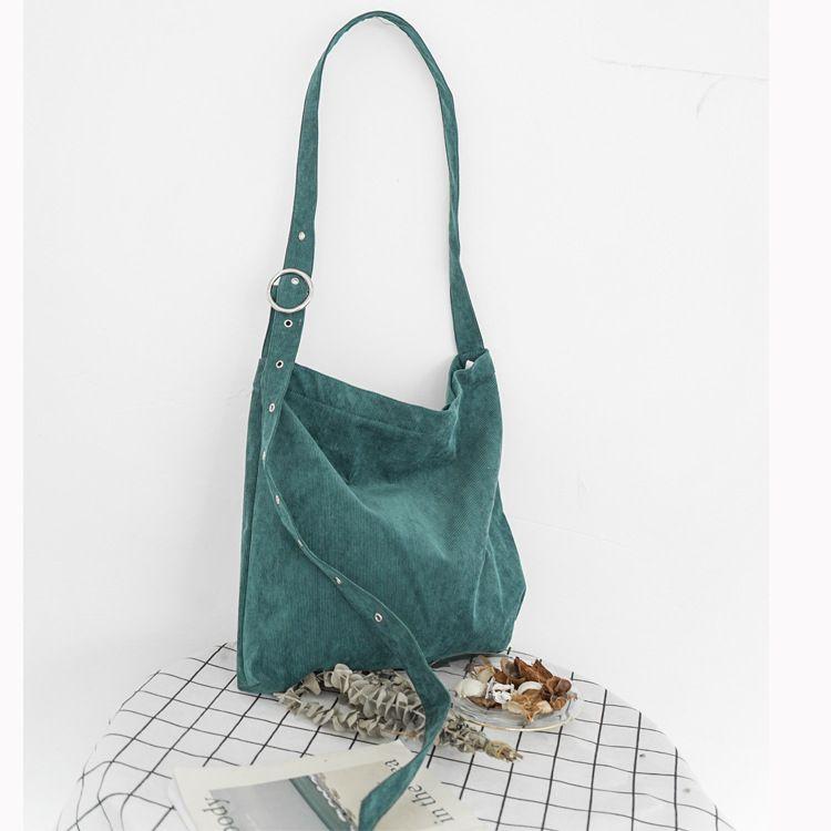 d55c3716b612 Korea Fashion Corduroy Bags For Women 2019 Hot Canvas Cross Body Bag Female  Messenger Bag Student Shoulder Schoolbag Handbags On Sale Shoulder Bags  From ...