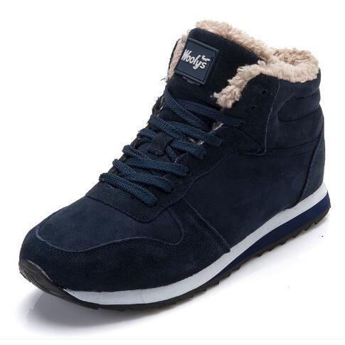 best sneakers f94f1 93ee2 2019 Männer Stiefel Damen Winterschuhe Mode Schnee Stiefel Schuhe Ankle  Herren Schuhe Winterstiefel Schwarz Blau