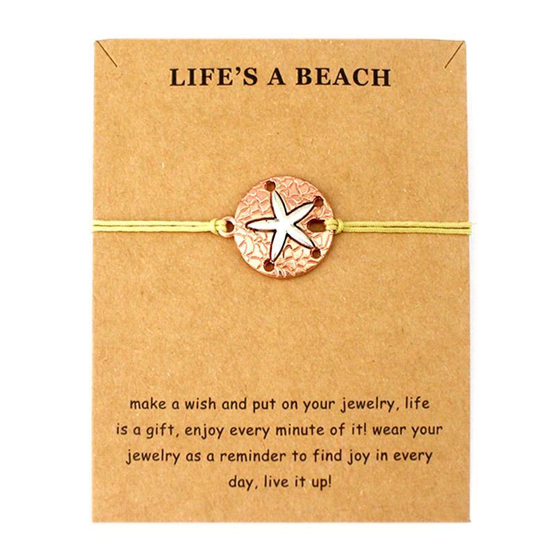 Life is a Beach Jewelry Octopus Whale Tale Sharks Seahorse Starfish Mermaid Seashells Sand Dollar Charm Bracelets for Women