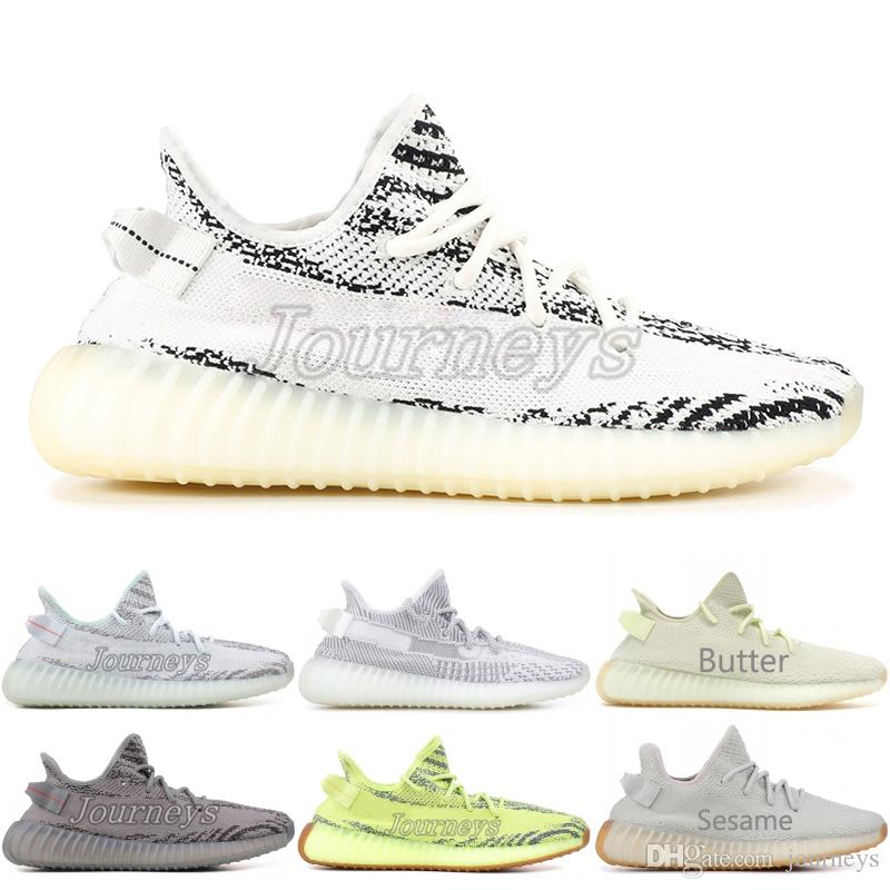 33a835c5d9d2d5 2019 Butter 350 V2 Beluga 2.0 Frozen Yellow Blue Tint Zebra Cp9652 Bred Men  Running Shoes Kanye West Designer Sport Sneaker With Box From Journeys