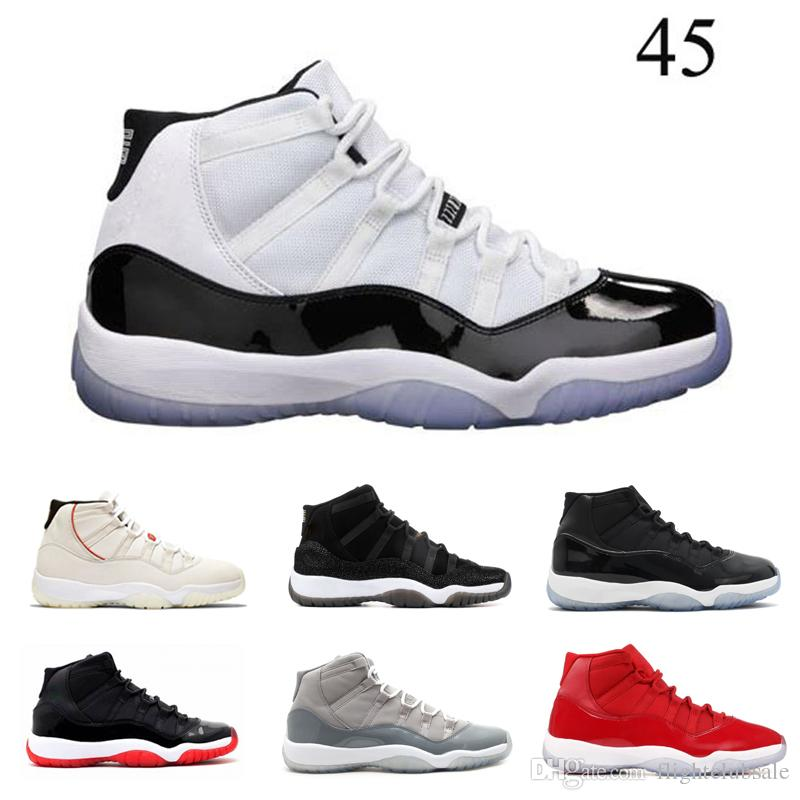 bcb64554845a62 With Box 11s Concord 45 Platinum Tint Gym Red Midnight Navy Bred Concord  Basketball Shoes Mens Womens 11 Sports Sneakers Wholesale Drop Ship  Basketball Gear ...