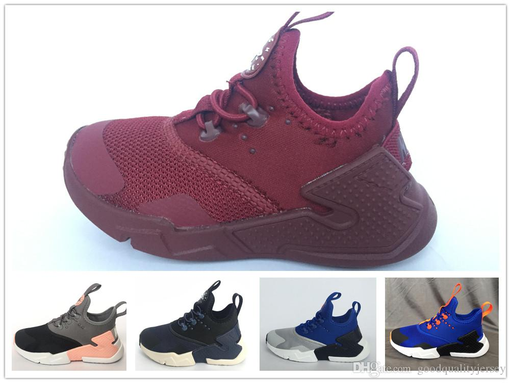 f93496fa3f66 2018 Children Air Huarache IV 4.0 Ultra Running Shoes Huraches Boys Girls  Shoes Baby Kids Triple Huaraches Sneakers UK 2019 From Goodqualityjersey