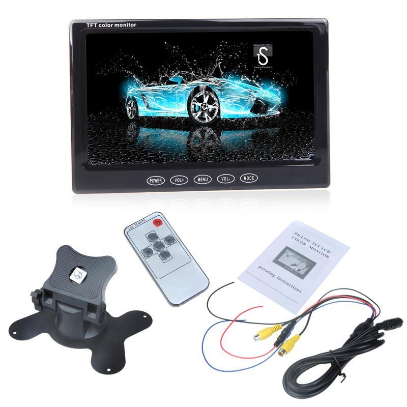 "Freeshiping 7"" TFT LCD Car Monitor Auto TV Car rear view camera with mirror monitor Parking Assistance Backup Reverse Monitor Car DVD Screen"