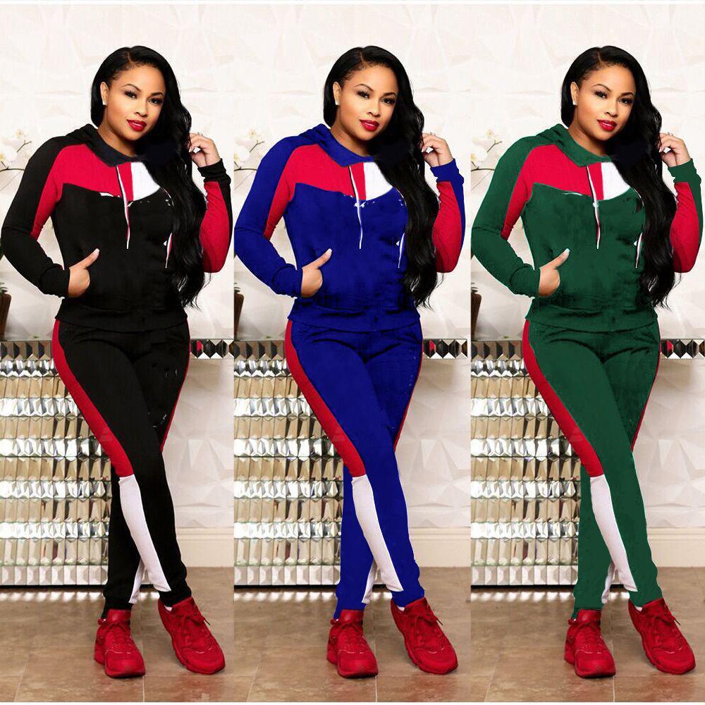 3b7c237f632b Diseñador de la marca, ropa para mujer, con capucha, top y pantalones,  leggings, letras, chándal, trajes de 2 piezas, ropa deportiva, jersey ...