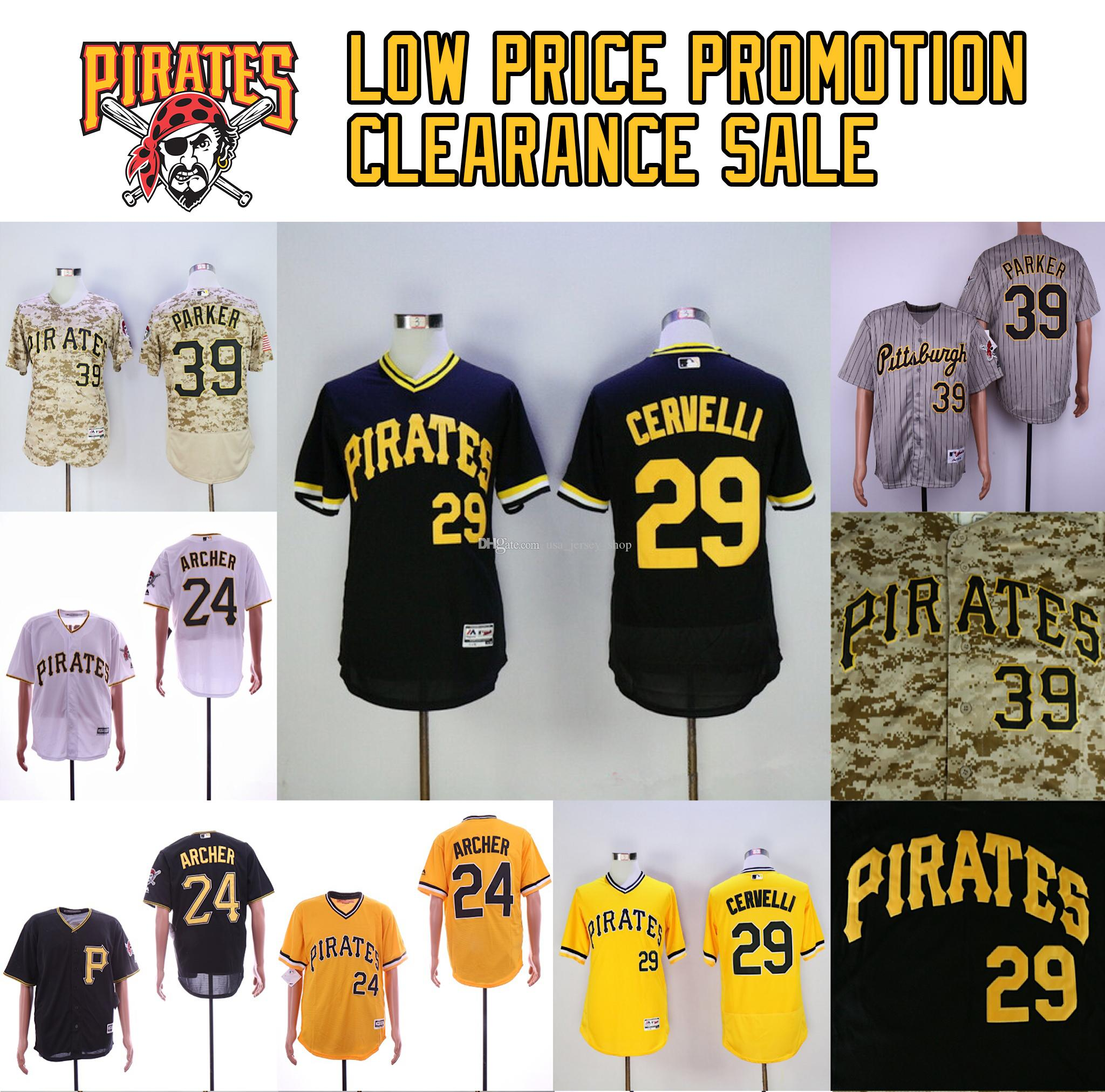 detailed pictures be9a1 10cc9 Pirates Jerseys 24 Chris Archer Gregory Polanco Jung Ho Kang Dave Parker  Francisco Cervelli Baseball Jersey Free ship Low price promotion