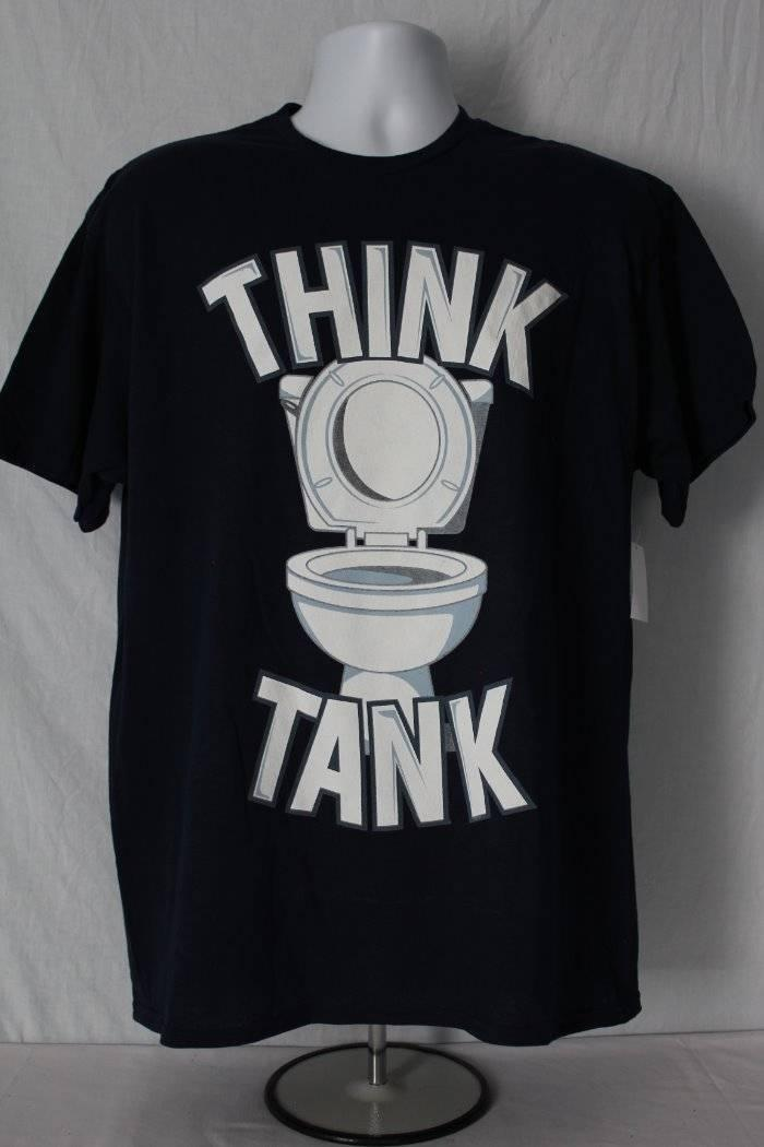 the best attitude 72dd0 5429c T-shirt da toilette da uomo Think Tee Tee Small Graphic Tee Humor Funny  Bathroom JokeFunny Tshirt unisex