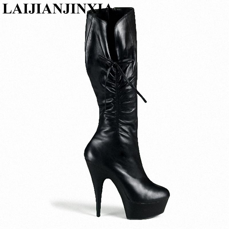 reputable site 16769 79727 LAIJIANJINXIA New 15cm ultra high heels boots women s platform boots shoes  6 inch Sexy knee High Heel Dance shoes