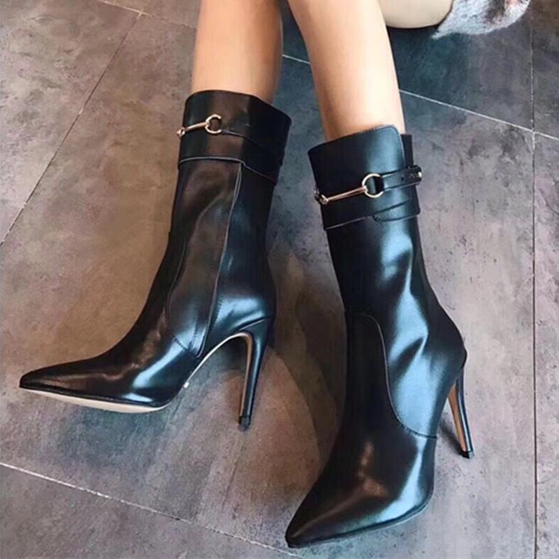 487dbd35ae5d6 Fashion Luxury Brand Boots Designer Women Shoes Platform Thick High Heels  Designer Heels Womens Shoes Designers Shoes Ladies Boots Mens Dress Boots  Green ...