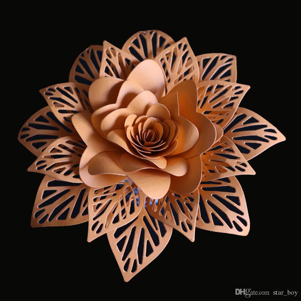 9pc//Set Flowers Leaves Scrapbook Carbon Metal Cutting Dies Embossing Album Craft