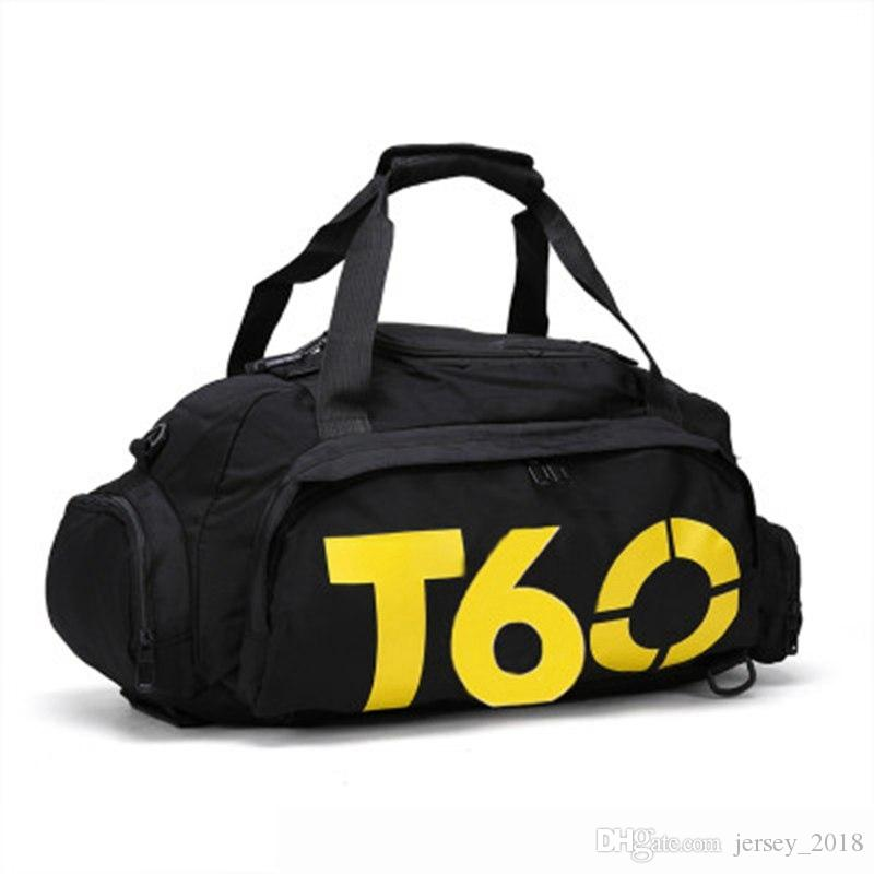 a315b068ef 2019 T60 Waterproof Gym Sports Bags Men Women Molle Fitness Training  Backpacks Multifunctional Travel Luggage Bolsa Shoulder Handbags  358349  From ...