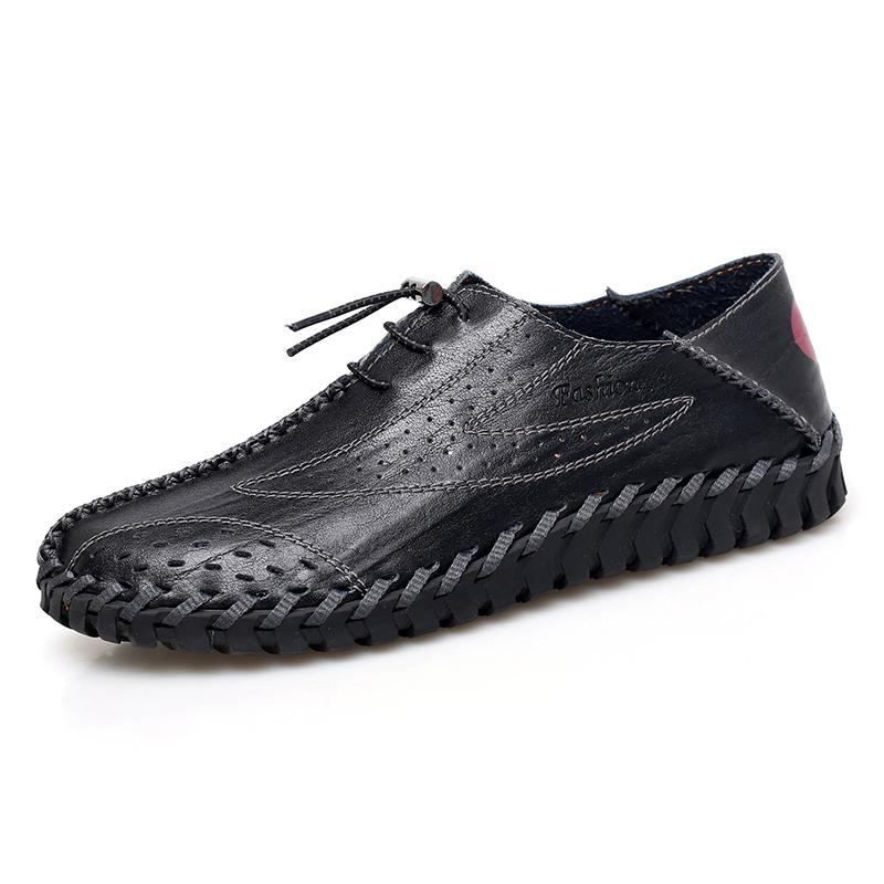 Men's Casual Shoes Fashion Mens Moccasins Flats Breathable Driving Shoes Man High Quality Leather Boat Shoes Loafers