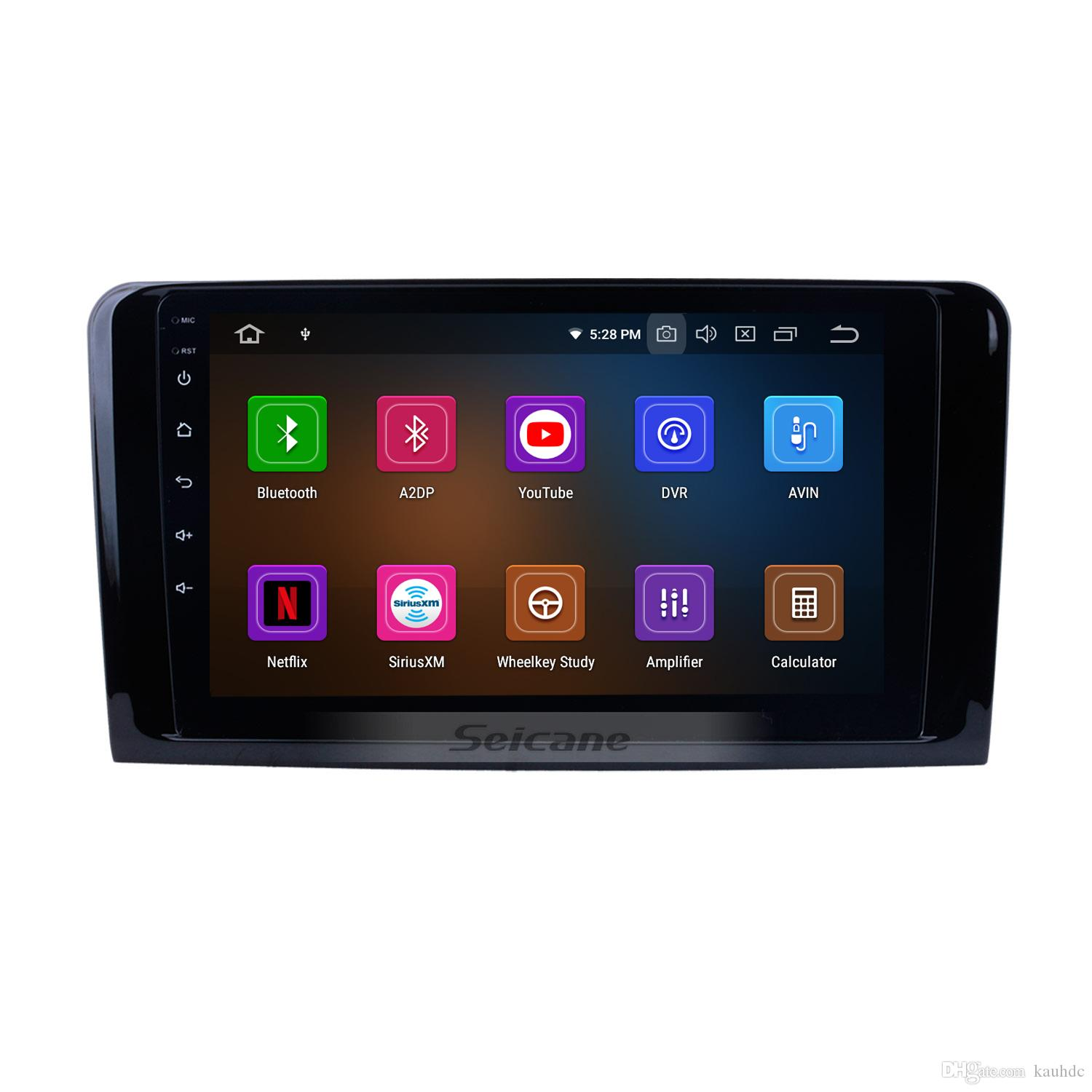 Android 9.0 Car GPS Navi for 2005-2012 Mercedes Benz ML Class W164 ML280 ML300 ML320 ML350 ML420 ML450 ML500 ML550 with WIFI support car dvd