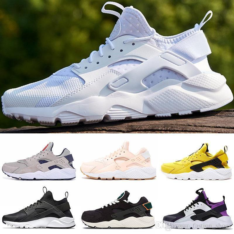 Black White Triple PINK Huarache 1.0 4.0 Running Shoes Mens Womens Rose Gold Cool Grey Red NIK Yellow Sports Sneakers 36-45