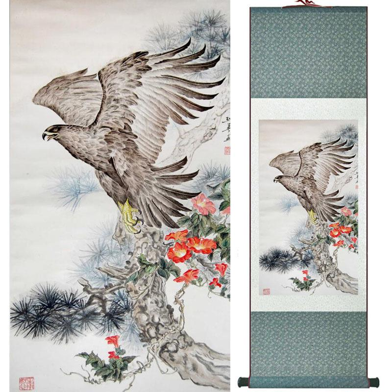 Eagle Painting Home Office Decoration Chinese Scroll Painting Eagle On Pine  Tree Painting Eagle Picture Scgs120309