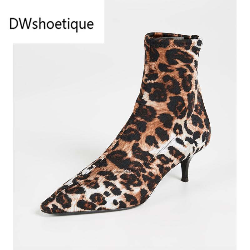 Women Boots Leopard Ankle Boots Pointed Toe Slip On Women Bootes Platform  Boots Chelsea Boot From Liucpik 3a5770d2a6