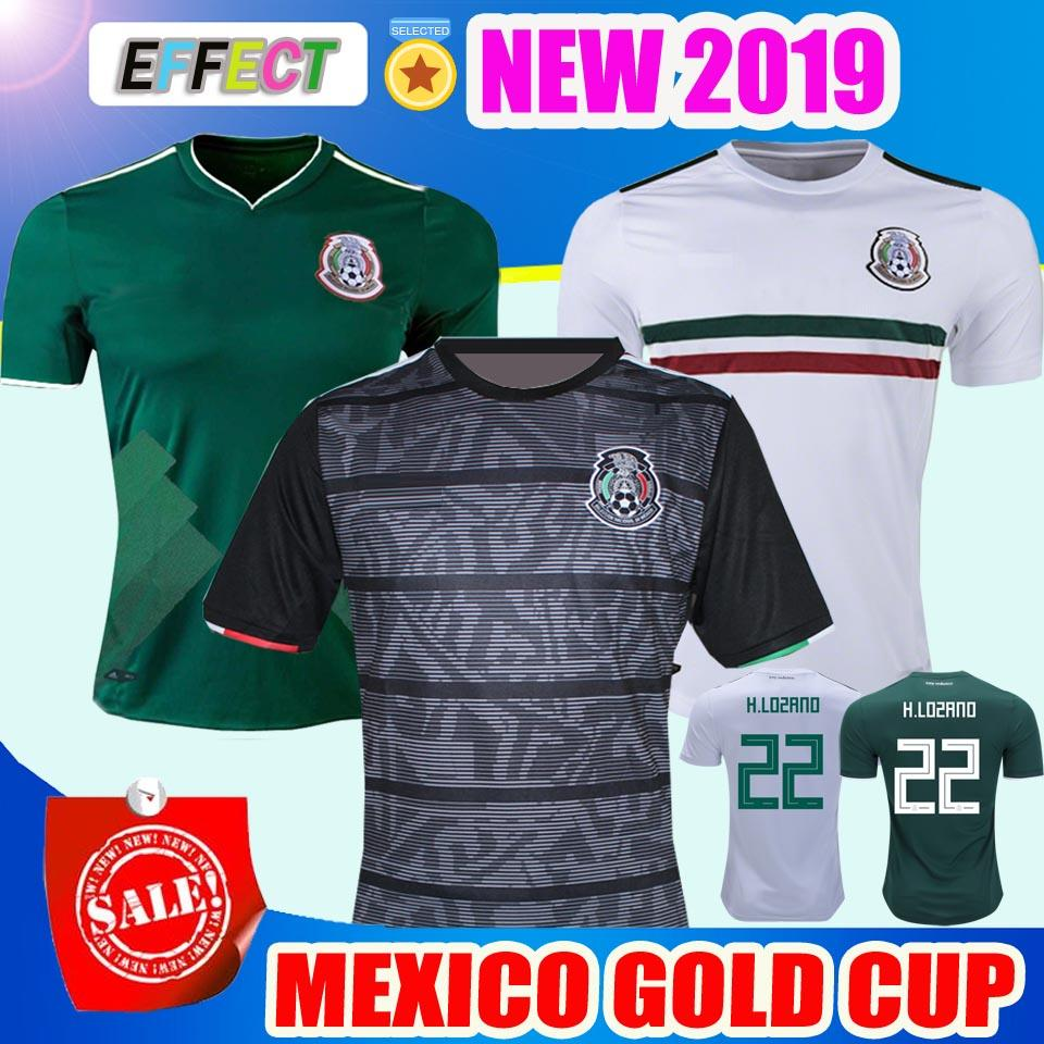 a5cf447fc 2019 2019 Mexico GOLD CUP Black KIT Soccer Jerseys 2018 World Cup Home Away  CHICHARITO Camisetas De Futbol H.LOZANO G.DOS SANTOS Shirts From Firesport