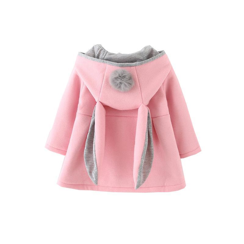 26f37154d Dollplus Girls Coat Fashion Cute Rabbit Ear Hooded Jacket Spring Top ...