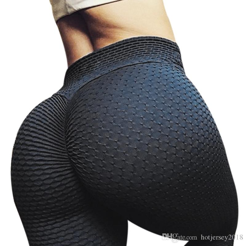 415329ced2f4f1 2019 Sport Leggings High Waist Fitness Pants For Women Sporting Workout  Leggings Elastic Sexy Hip Slim Push Up Female Yoga Trousers #278487 From ...