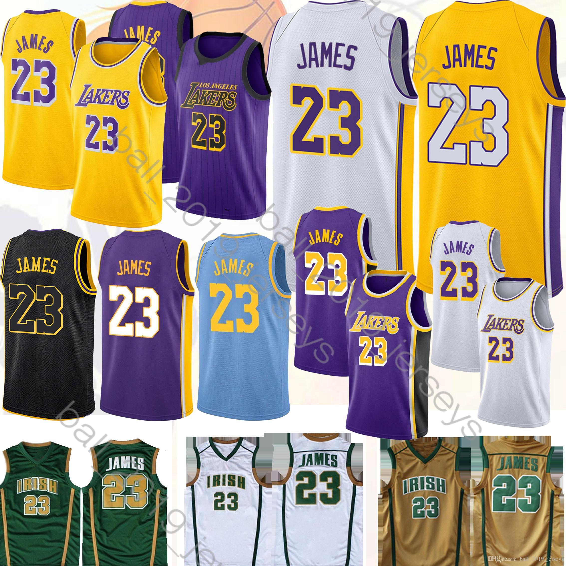 brand new 6ce94 b9fa6 23 LeBron James jersey Los Angele jersey Laker Hot sale Maillots de  basketball 2019 men basketball jerseys