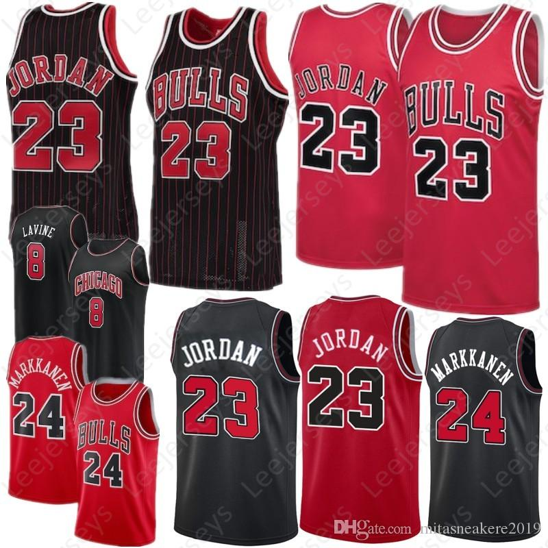 best sneakers 50121 b96e8 Chicago LaVine 8 Zach Bulls Jersey 24 Lauri 23 MJ Markkanen Carter 34  Wendell Jr 100% Stitched Top Quality Adult Jerseys