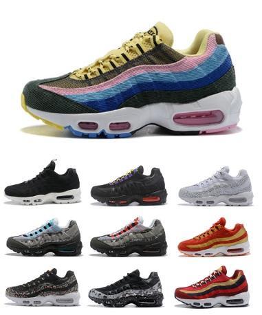 455e97e62890 95 Mens Designer Running Shoes Women 97 95 Og Triple Black White ...