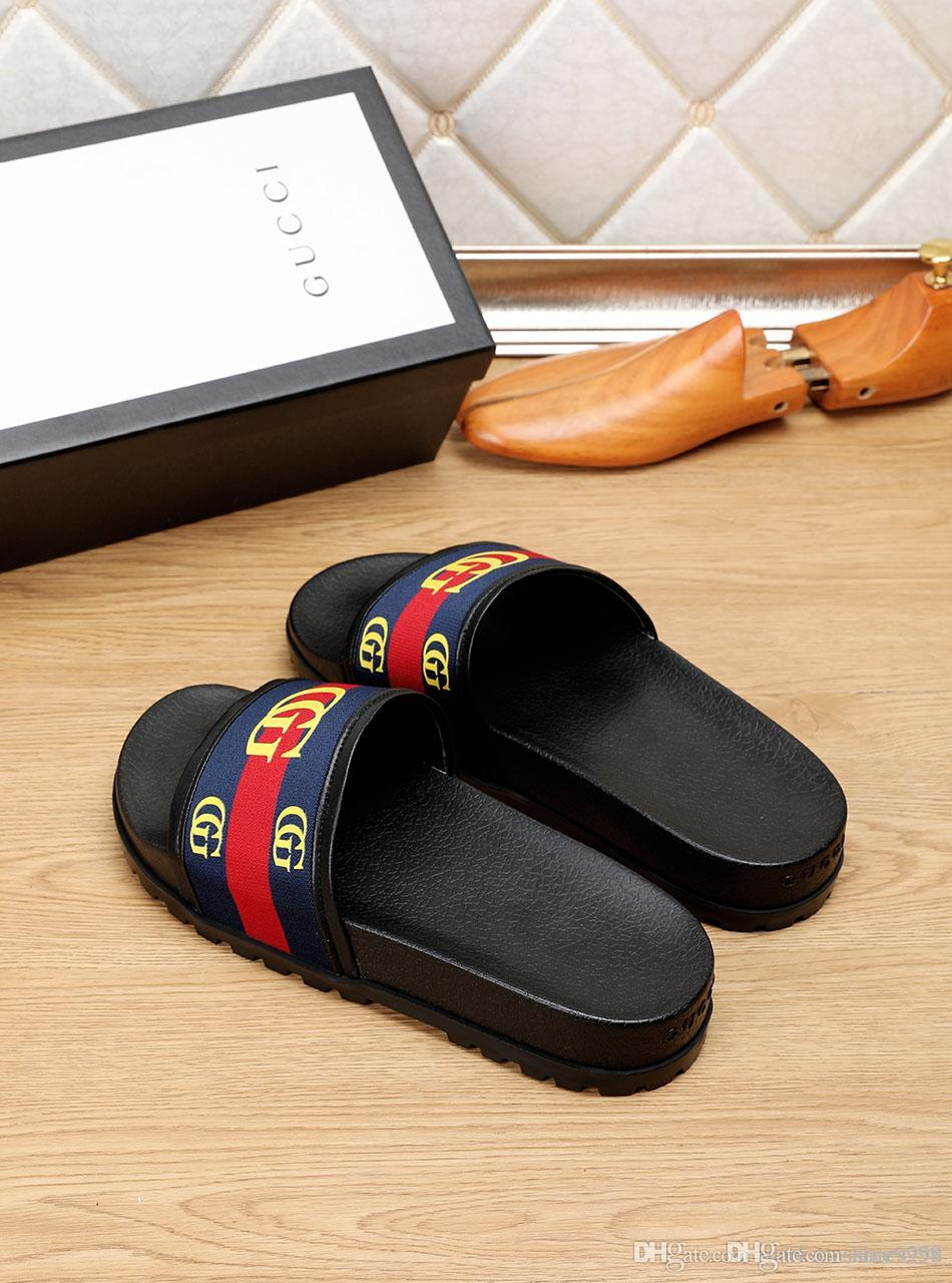Männer Frauen Marke Spike Sandale 2019 Flache Sandalen G Mit Luxus Hausschuhe Indoor Neue Flops Haus Flip Slides Designer Herren Strand Sommer Schuhe E9I2DWH