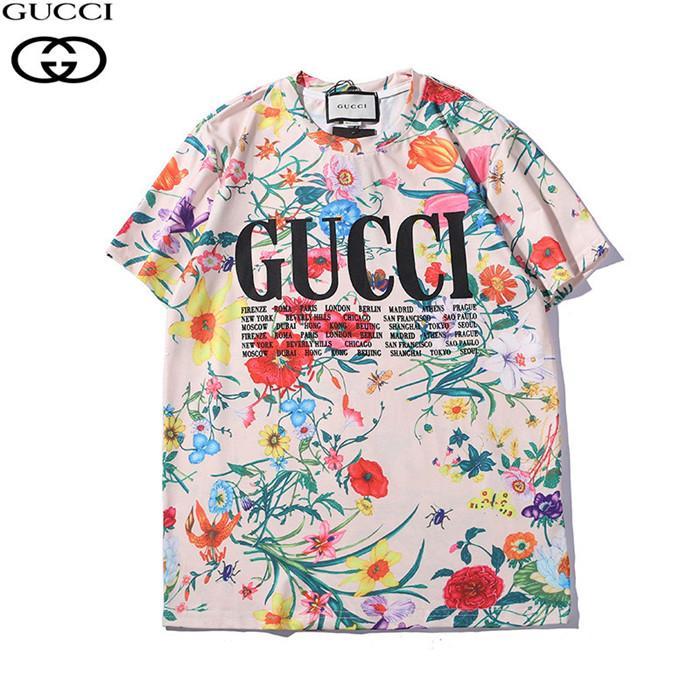 50c9e3cb1b96 2019 Primavera y verano nuevas estrellas de impresión de letras de graffiti  con camiseta de manga corta con cuello redondo de Europa y América.