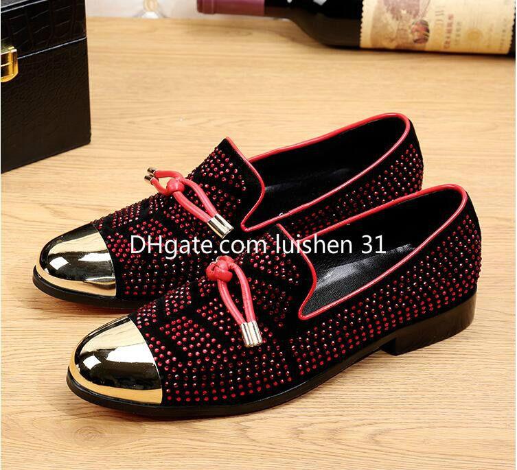 383cd16b4 Compre 2019 Moda Casual Zapatos Formales Para Hombre Negro De Cuero ...