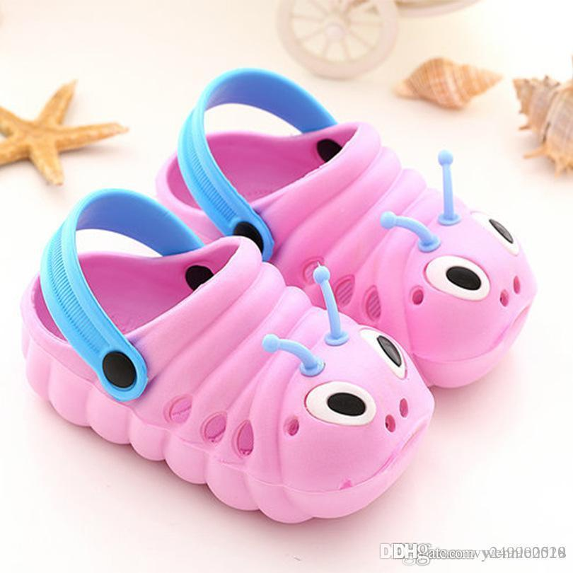 85c3e025deb Caterpillar Children Slippers And Non-slip Baotou Baby Shoes with ...